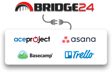 Bridge24 Can Power-Up Aceproject, Asana, Basecamp and Trello