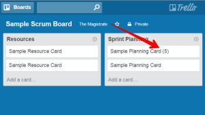 scrum process with trello